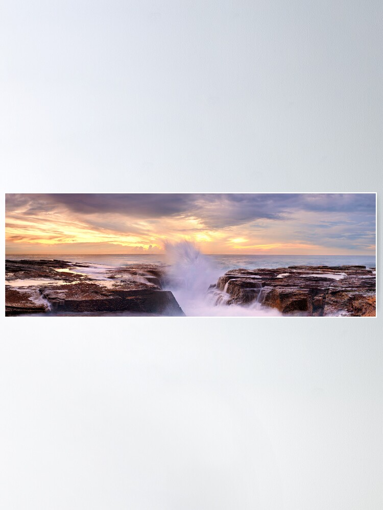 Alternate view of Narrabeen Rocks, New South Wales, Australia Poster