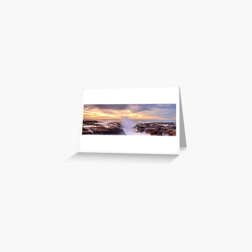 Narrabeen Rocks, New South Wales, Australia Greeting Card