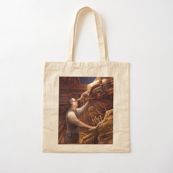 Steampunk Astronomer Cotton Tote Bag