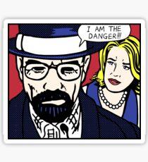 I Am the Danger Lichtenstein Sticker