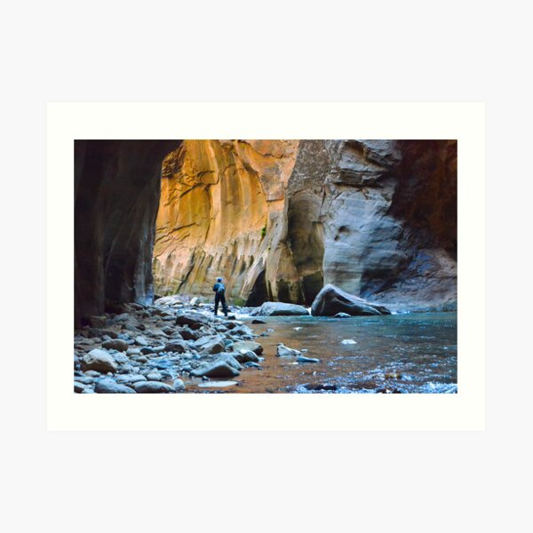 Virgin River Narrows - Zion National Park Art Print