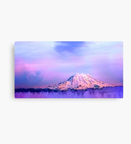 Vivid Mountain Sunset Canvas Print