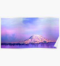 Vivid Mountain Sunset Poster