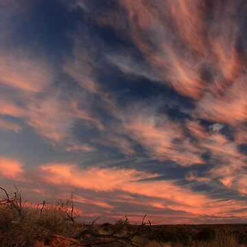 Dusk in the Simpson Desert by timoss