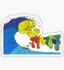 Percentum Surfing Sticker