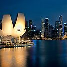 Singapore City At Night by DIZZYHEIGHTS