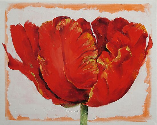 Parrot Tulip by Michael Creese
