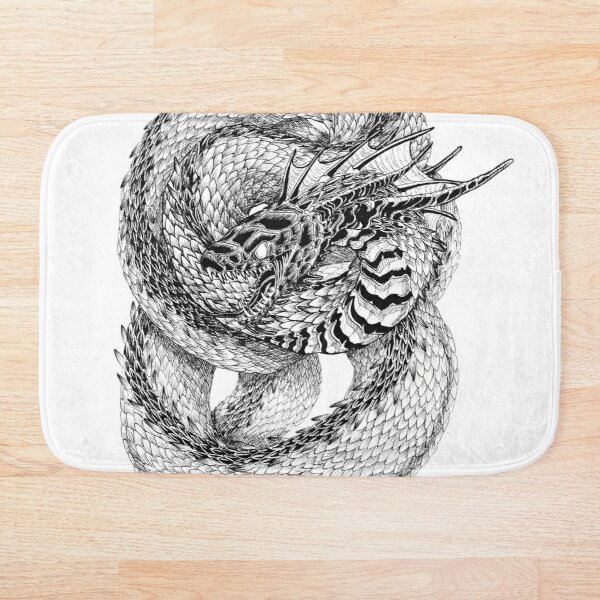 Coiled Venom Bath Mat