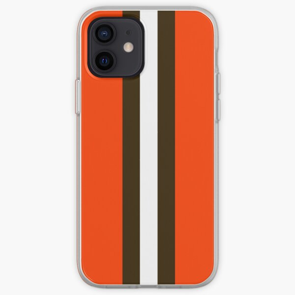 Masque à rayures Cleveland Browns Coque souple iPhone