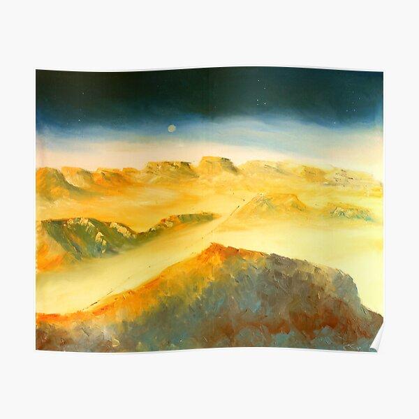 Israel Gemälde, Hod Akev Wüste Negev Poster