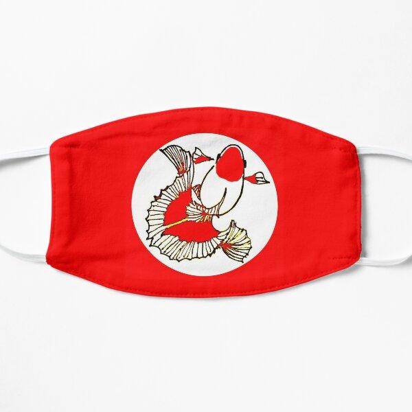 Tosakin red white goldfish Flat Mask