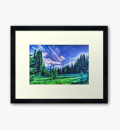 Painterly Mount Rainier Framed Print
