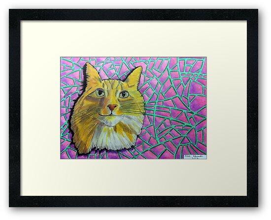 355 - SMUG MITCH - DAVE EDWARDS - COLOURED PENCILS & INK - 2012 by BLYTHART
