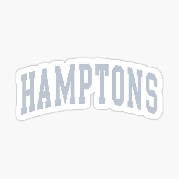 Hamptons Blue Varsity Lettering  Sticker