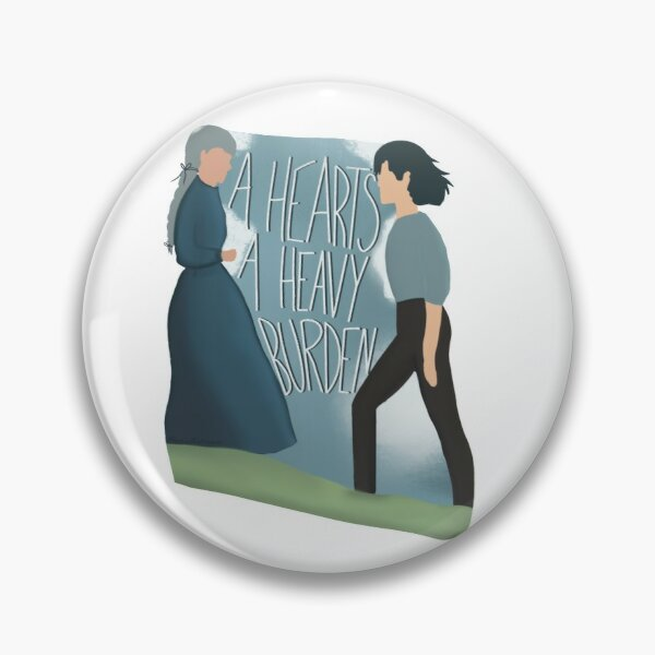 "Howl's Moving Castle, ""A Heart's a Heavy Burden"" Pin"