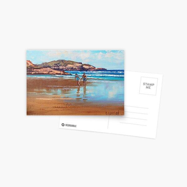Beach Couple Postcard