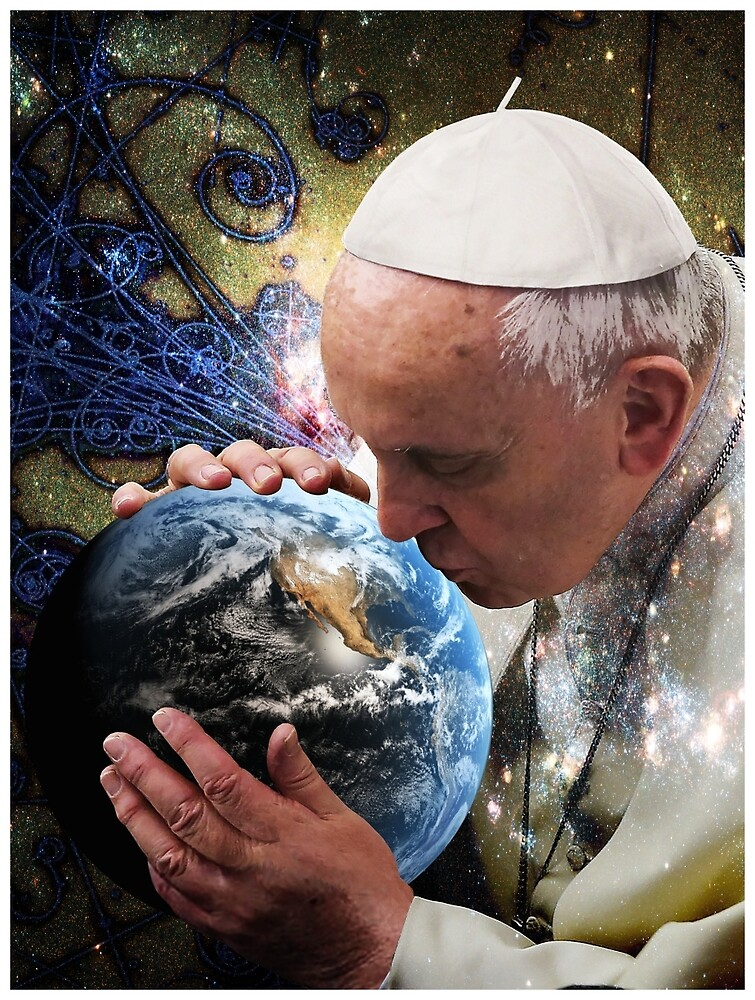 Pope Francis Kissing the Earth by O O