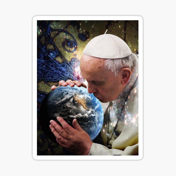Pope Francis Kissing the Earth Sticker