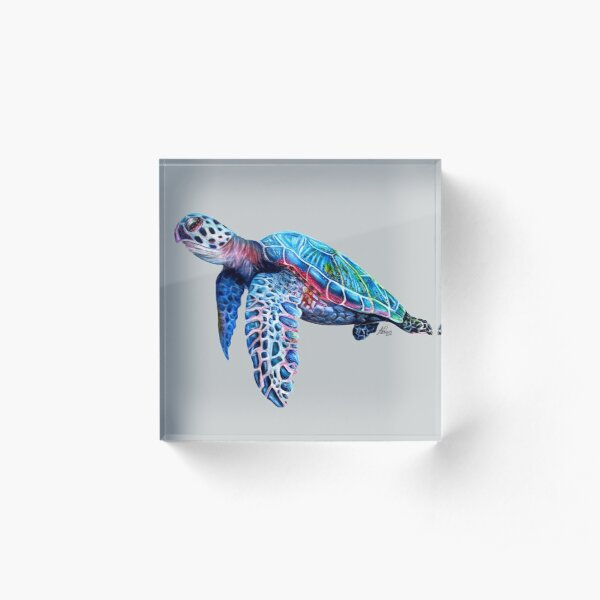 Sea Turtle Acrylic Block