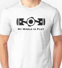 Subaru My World is Flat Unisex T-Shirt