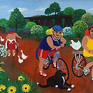 Bruthen Beauties ride the rail trail by Marg Pearson