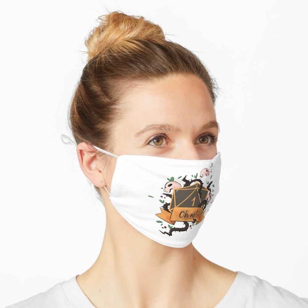 Critical Fail! D20 Natural One  Mask
