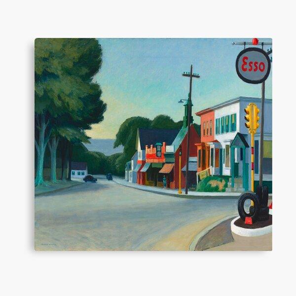 Edward Hopper - Gasolinera, Reproducción de arte Lienzo