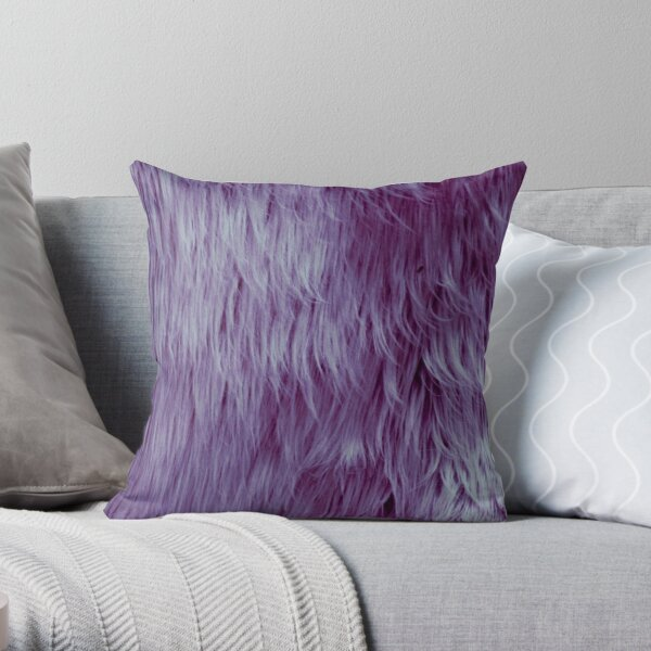 Violet fur texture Throw Pillow