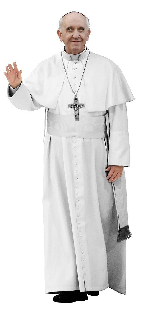 High Resolution Standing Waving Pope Francis by O O