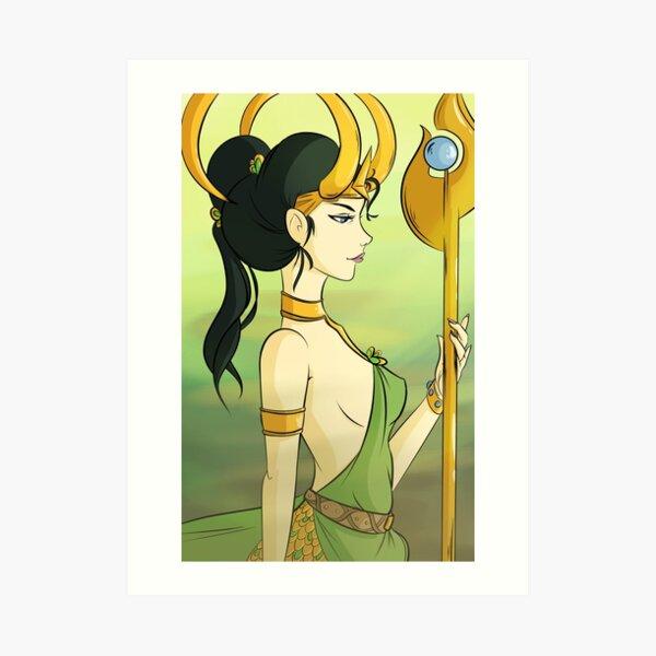 Loki - Female Genderbend Art Print