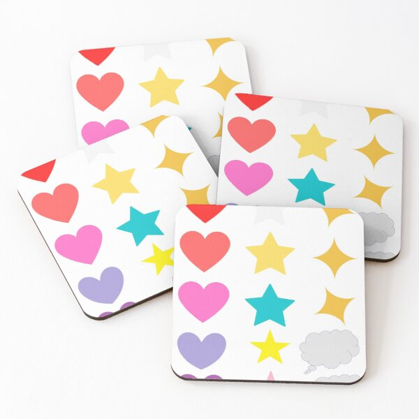15 Basic Stickers Coasters (Set of 4)