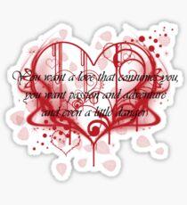 Damon's Love Quote Sticker