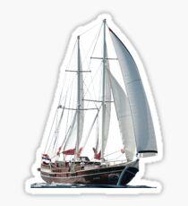 Turkish Gulet Under Sail  Sticker