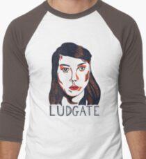 Aubrey Plaza/April Ludgate Portrait Men's Baseball ¾ T-Shirt