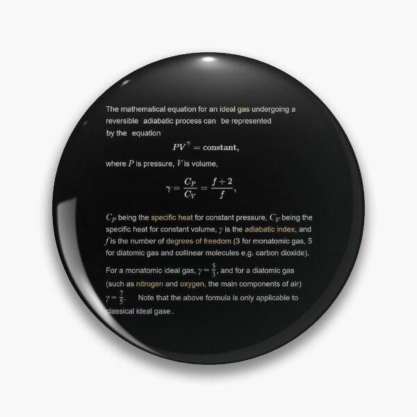 Adiabatic Gas Properties Pin