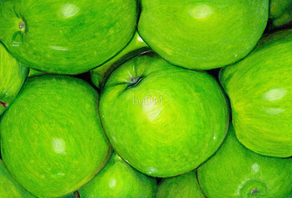 Green Apples in Colour Pencil by DMxx