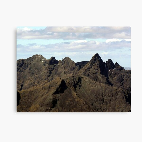 The Mighty Black Cuillin - Isle of Skye Canvas Print