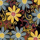Retro Abstract Simple Retro Floral Design by artonwear