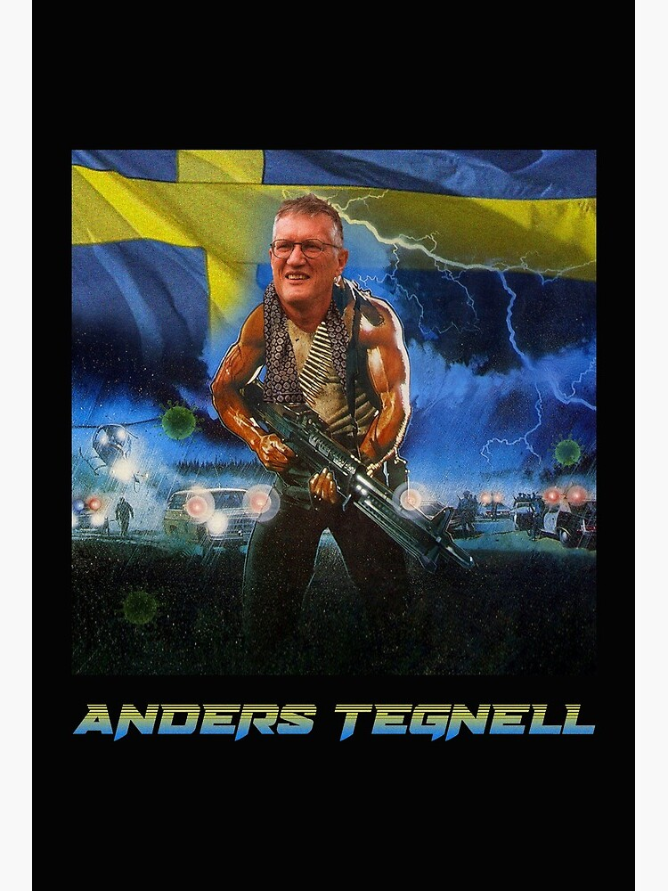 Anders Tegnell Action Hero Sweden Art Board Print By Losttorpedo Redbubble