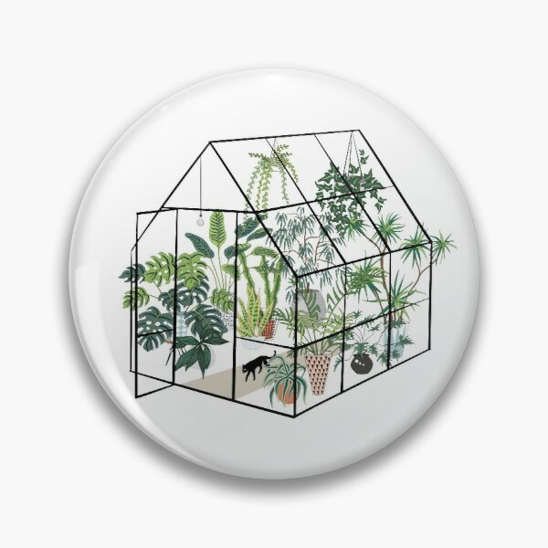 greenhouse with plants Pin