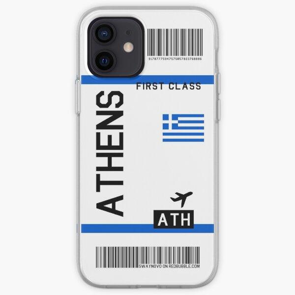 Billete de avión Atenas Funda blanda para iPhone