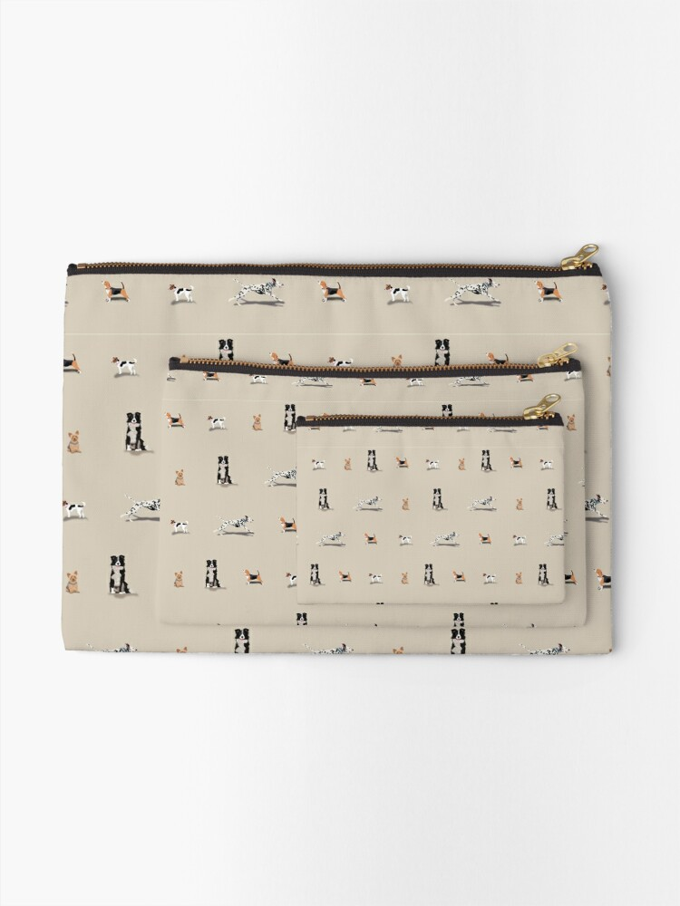 Alternate view of Dog Repeat Zipper Pouch