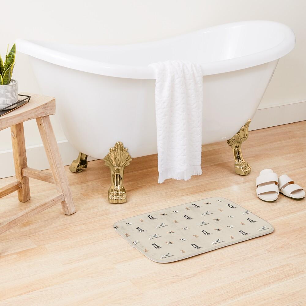 Dog Repeat Bath Mat