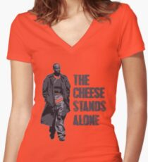 Omar Little - The Cheese Stands Alone Women's Fitted V-Neck T-Shirt