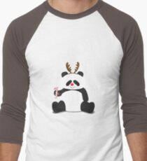 Merry Christmas, Panda! Men's Baseball ¾ T-Shirt