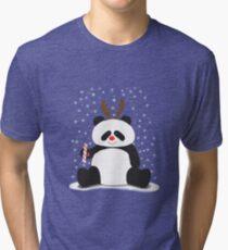 Merry Christmas, Panda! Tri-blend T-Shirt