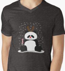 Merry Christmas, Panda! Men's V-Neck T-Shirt