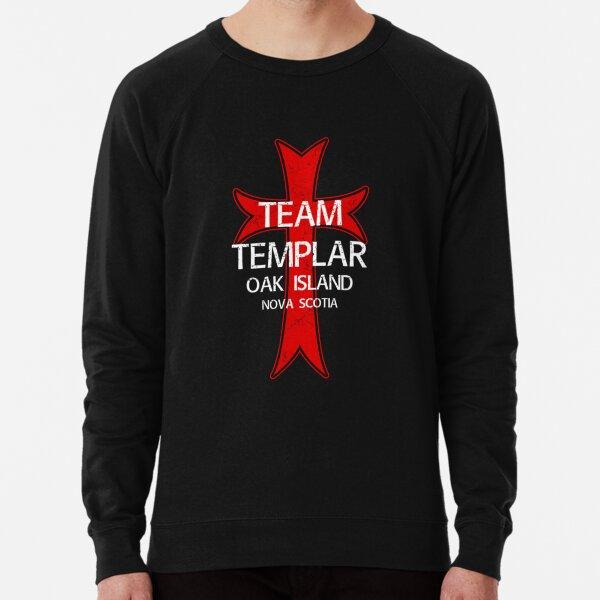 Oak Island Treasure Hunter Knights Templar Cross Mystery Nova Scotia Lightweight Sweatshirt