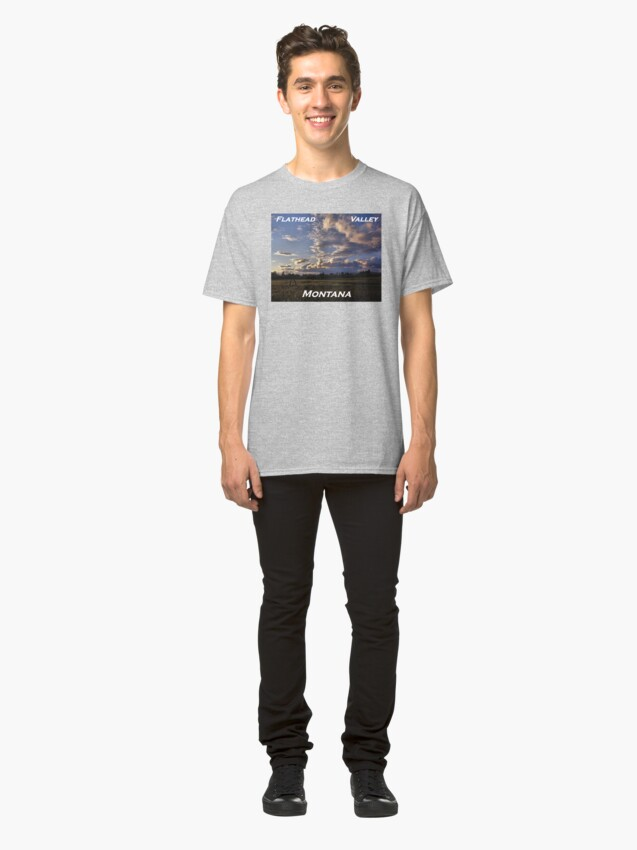 Alternate view of Spring Sunset, Evergreen Montana Classic T-Shirt