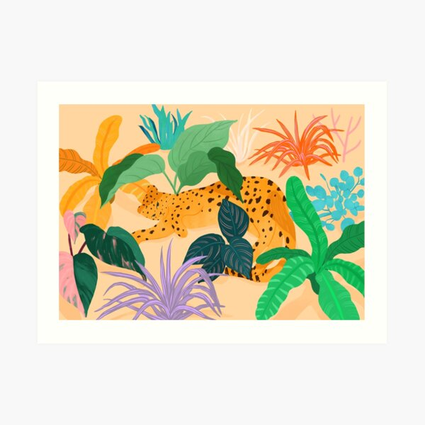 Sunbathing Amongt Plants Art Print